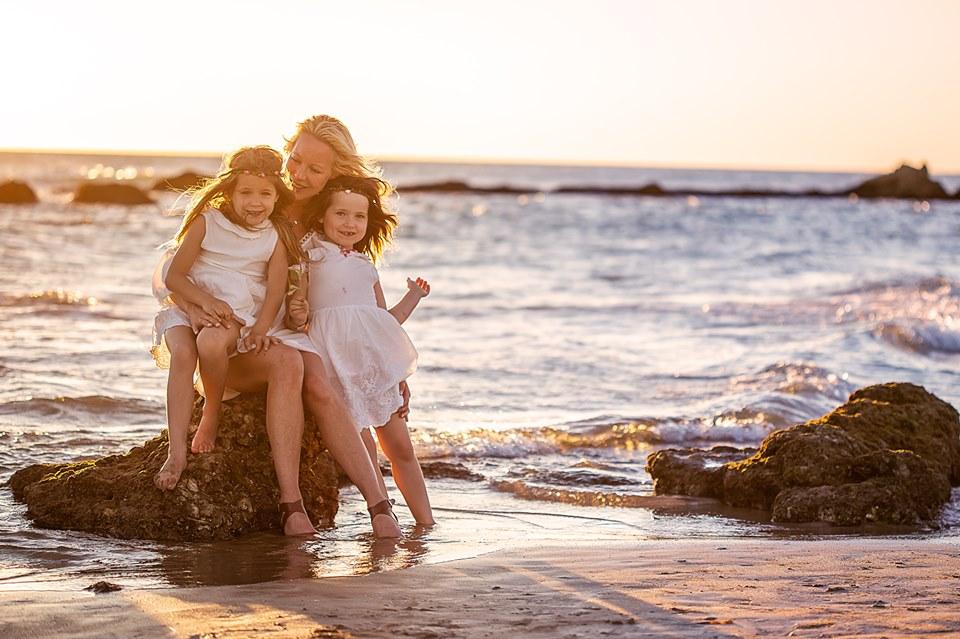 sesion de fotos de familia en la playa de costa ballena